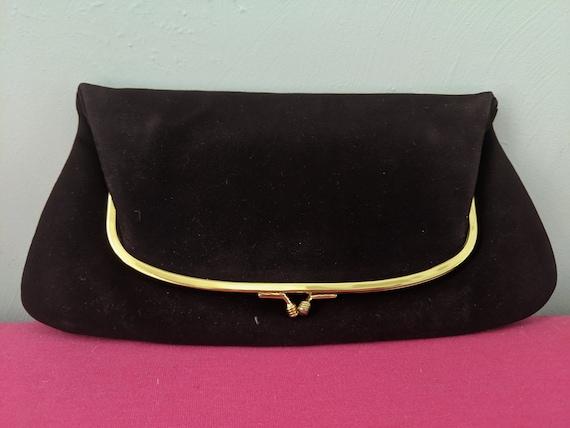 VINTAGE Coblentz Fold-over velvet Clutch Brand NEW