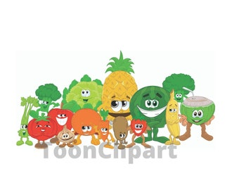 Healthy Food Clipart Etsy