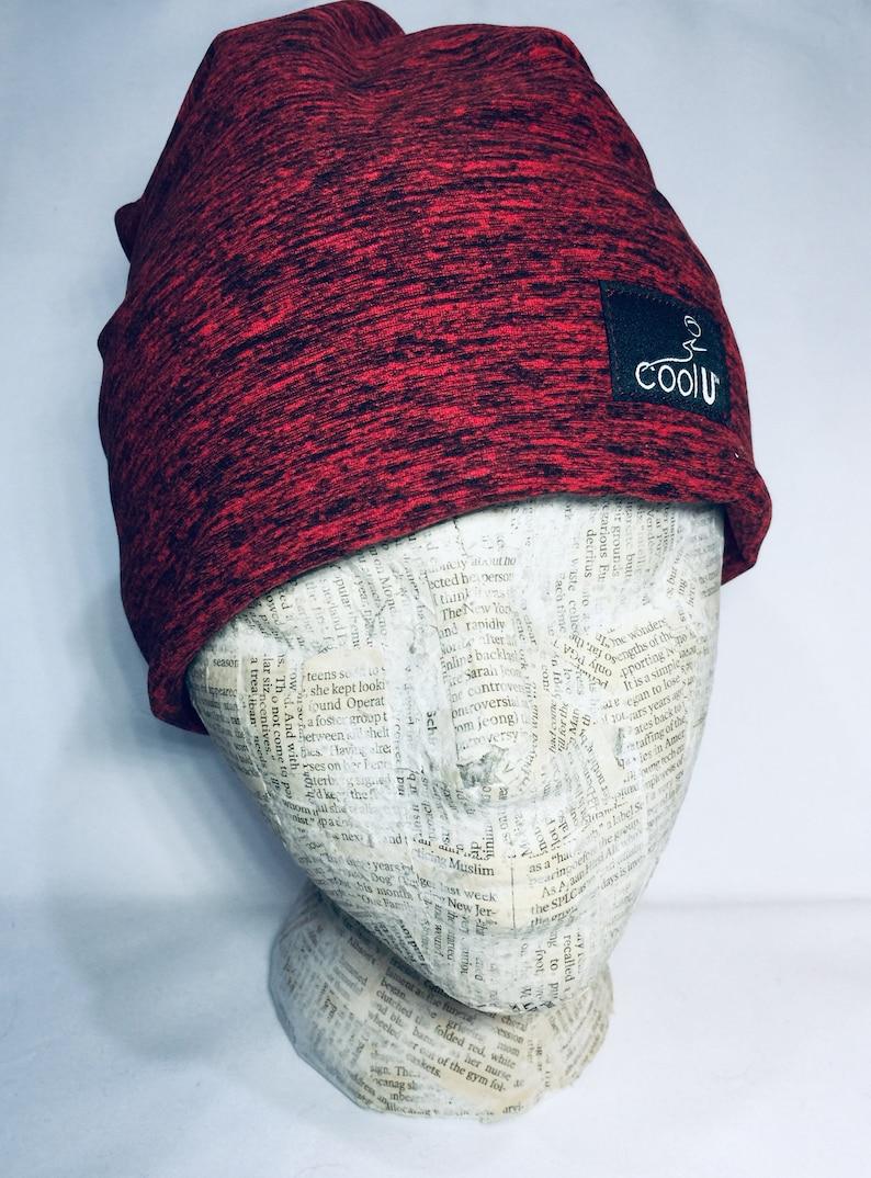 Winter Fleece Hat Lined with Polartec 200 Wind Pro Fleece Ear Warmer-Runner-Hike-Ski-Dog Walker-Stretch Fit