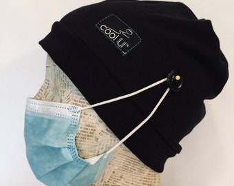 Scrub Cap with Buttons Unisex-Stretch Comfort fit-Chemo Hat-Dental Hygienist-Healthcare Worker