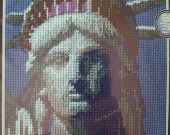 2002 Dimensions LADY OF LIBERTY #7201 needlepoint