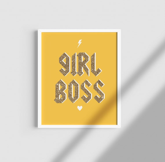 Girl Power / Girl Boss/ / colourful/ Lyrics print/ Music print/ vintage/ Feminist/ Womens Rights