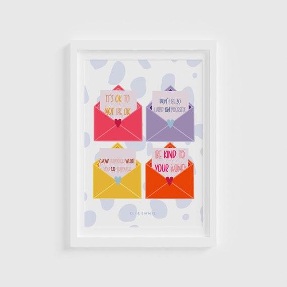 Positive Affirmation Mental Health Print / Children's Room Print/ affirmation print / Nursery Print / Baby Shower Present