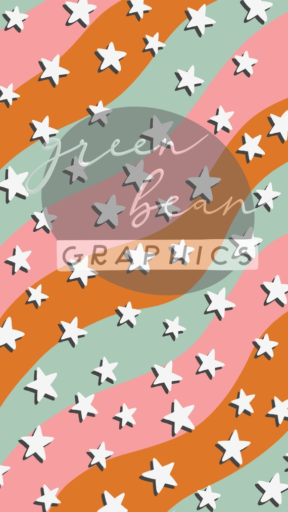 Starry Eyed Download Aesthetic Digital Iphone Wallpaper Etsy