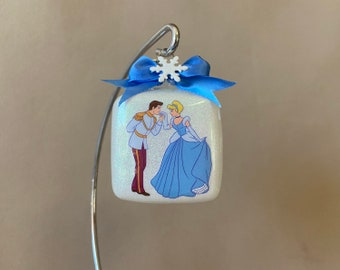 Snow White and The Prince Charming Cameo Necklace Keychain Brooch or Ornament Disney Snow White Storybook Illustration