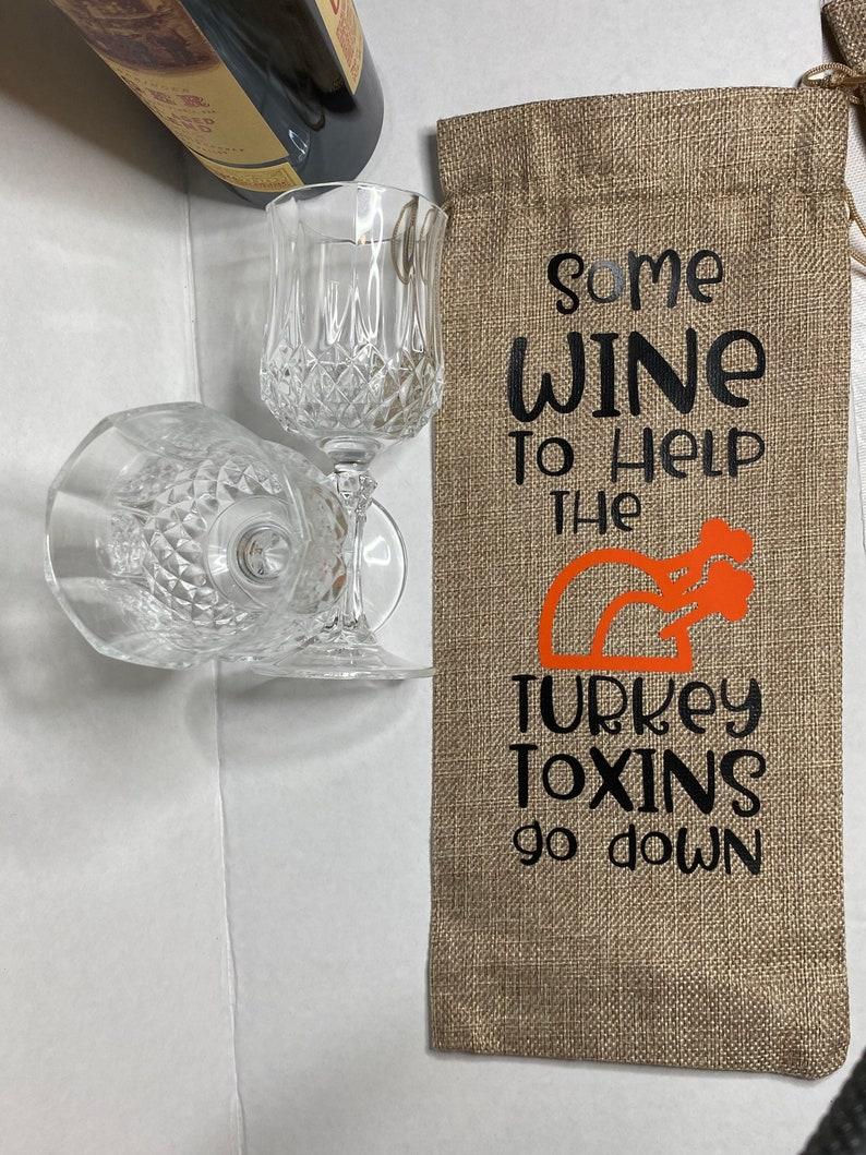 Thanksgiving Wine Bag