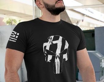 Greek Flag Punisher T-shirt