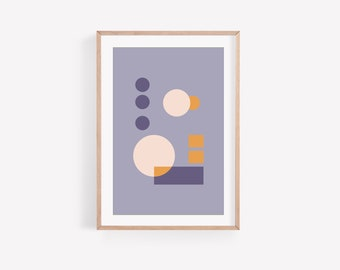 Abstract minimal downloadable art • printable • lavender