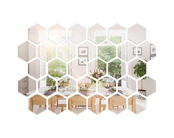 Square Round 3D Mirror Wall Sticker DIY Art Mural Home Decor Acrylic Decals UK
