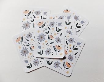 Floral Sticker Sheet   Sticker Sheet   Floral   Flowers   Happy Mail   Pen Pal   Snail Mail