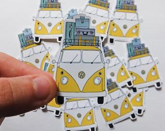 VW Bus Vinyl Stickers   Bus Sticker   Vinyl Sticker   Happy Mail   Stickers   VW Bus   Pen Pal