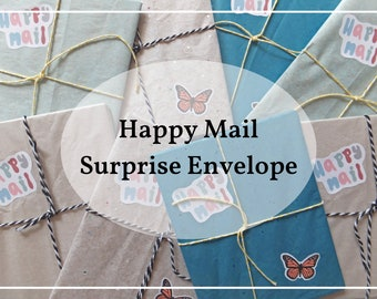 Happy Mail Surprise Envelope   Happy Mail   Snail Mail   Stationary   Cards   Washi Tape   Stickers   Pen Pal   Pen Pal Kit   Gift
