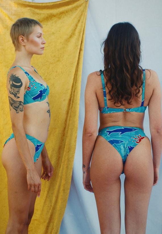 Bikini high waist, Rose Marie Reid Original - blue