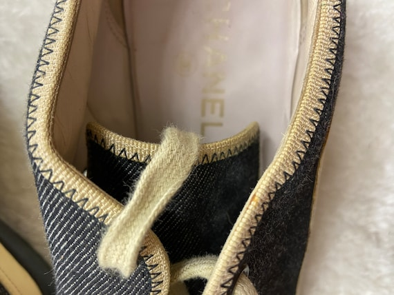 Authentic Chanel Vintage Sneakers - image 7