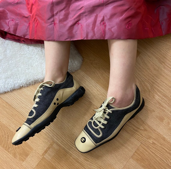Authentic Chanel Vintage Sneakers - image 3