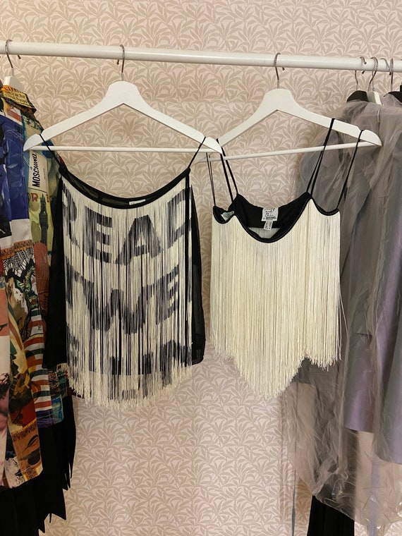 Moschino Cheap and Chic Vintage Fringe Skirt and T