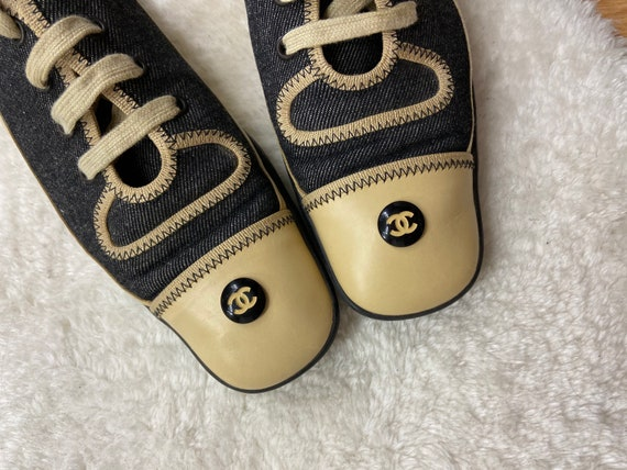 Authentic Chanel Vintage Sneakers - image 2
