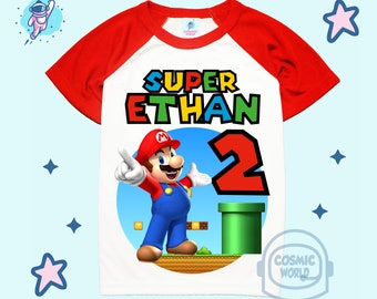 Super Mario Brothers birthday shirt Luigi Birthday Shirt