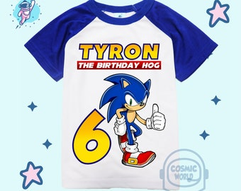 Sonic Birthday Shirt Etsy