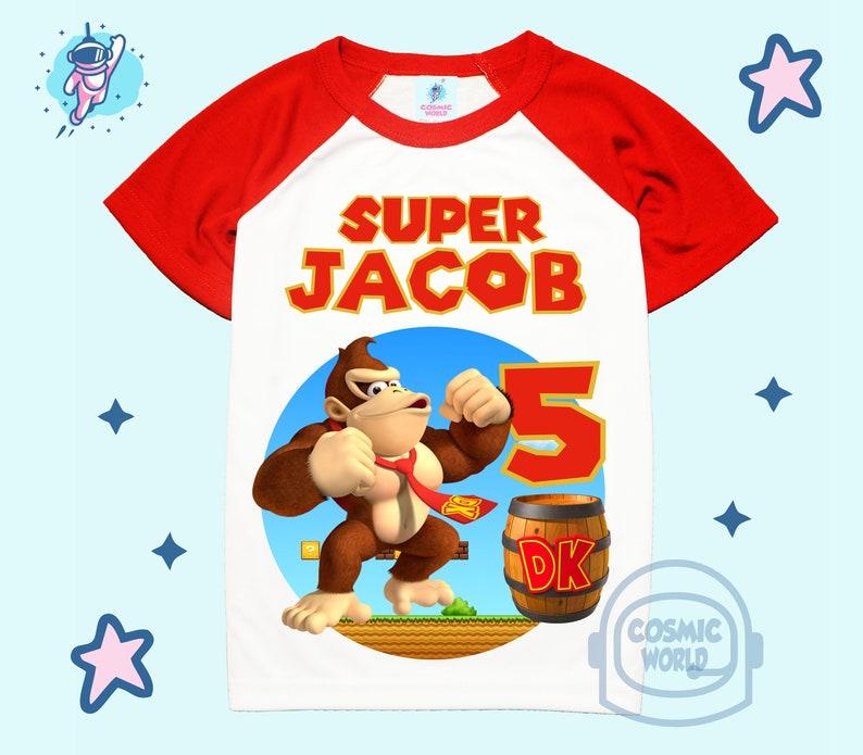 Kids Personalised Donkey Kong T-shirt