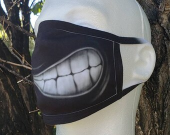 Smile Sneer Grin Washable Reusable Face Coverings 2 Layers