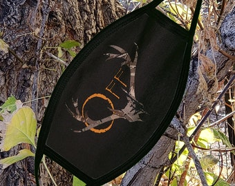 Buck Off ... Tribal Hunting Deer Elk Washable Reusable Face Coverings 2 Layers
