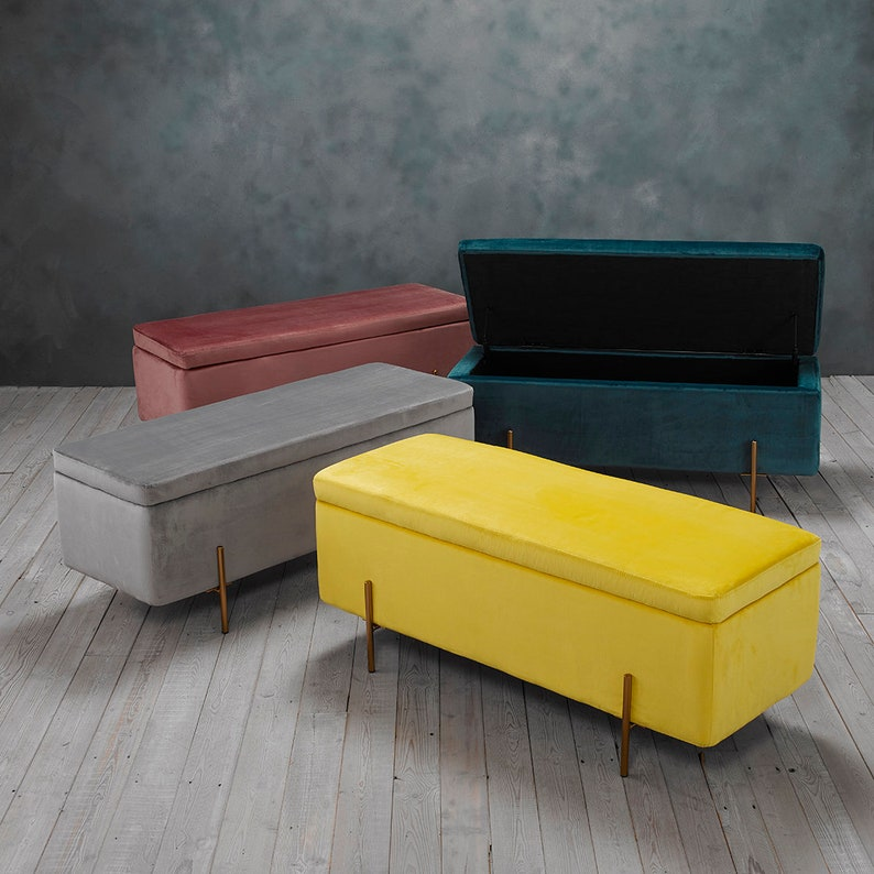 Small space living hacks are the best hacks for those who live in small places. Storage ottomans are a multi-functional piece to add. They store a lot and are a great addition to any room.