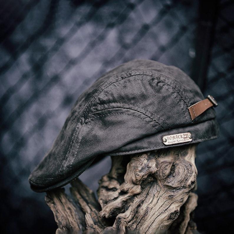 literary youth head hat World War II literary youth forward head hat Ami khaki men/'s peaked cap retro style old oil wax cloth beret