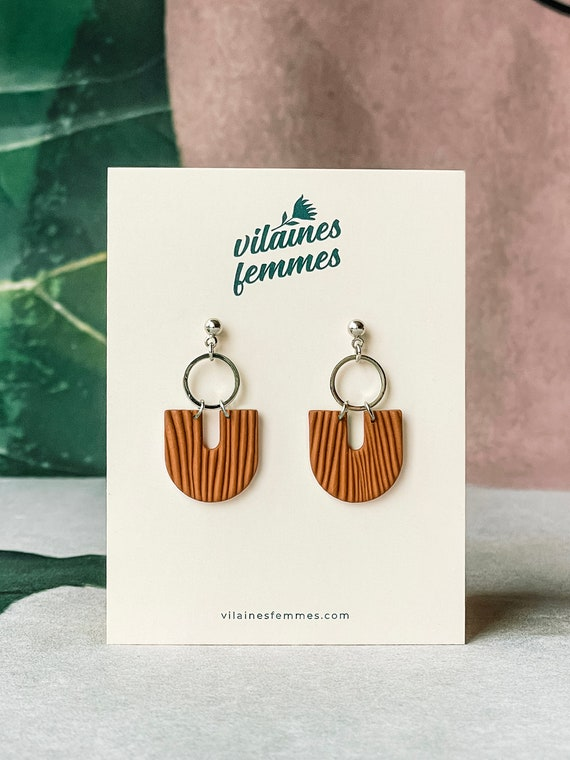 Handmade polymer clay earrings and silver plated accessories - {VF} Vives
