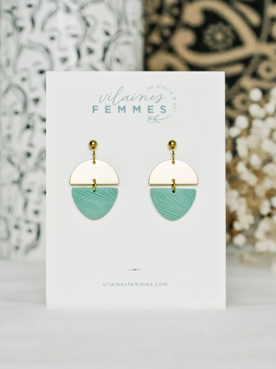 Polymer clay + brass earrings - {VF} Fécondes