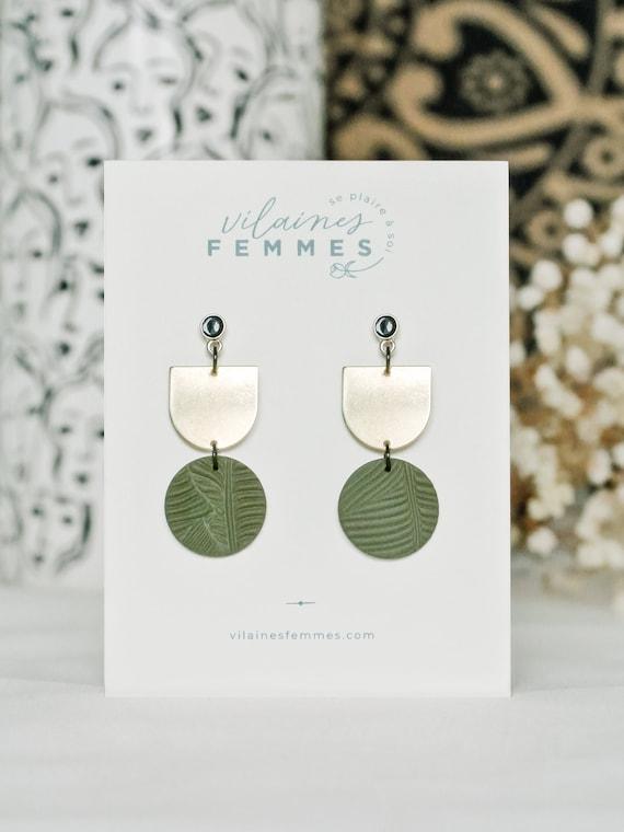 Polymer clay + brass earrings - {VF} Audacieuses