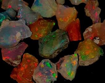 86 Carat  Natural Ethiopian opal raw rough for jewelry use opal rough fire opal Rough Top Quality in loose gemstone