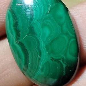 Hand Polish Pear Natural Stone Azorite Malachite Cabochon