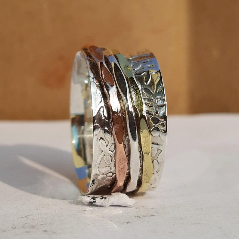 Women Ring Ring Statement Ring Gift For her Spinner Ring 925 Silver Ring Midi Ring Handmade Ring Boho Ring Spinner Ring