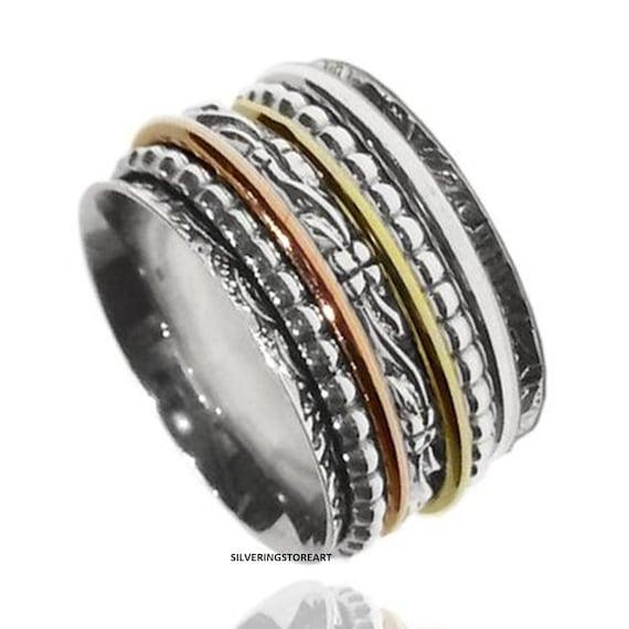 Fidget Ring Gift For Her Spinner Ring Meditation Ring Women Ring Promise Ring Boho Ring Worry Ring Handmade Ring Anxiety Ring