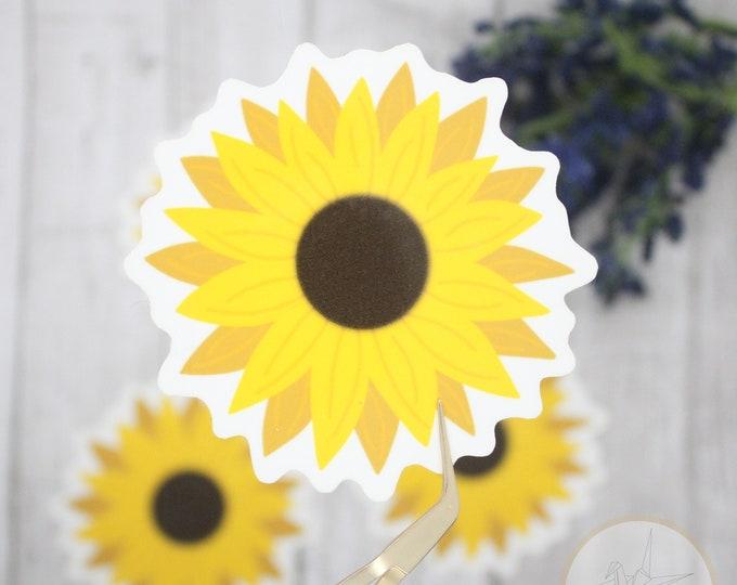 Sunflower Sticker Waterproof, Flower sticker for laptop, Waterbottle Stickers, Sunflower sticker for waterbottle, birthday gift for her