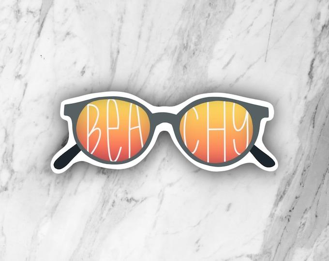 Beachy Sunglasses Die Cut Sticker