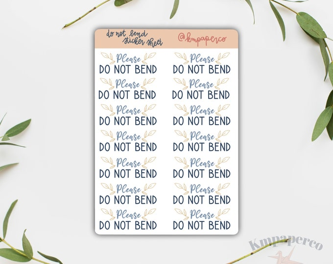 Please do not bend stickers, packaging stickers, custom packaging stickers, small business stickers, small business gift, envelope sticker