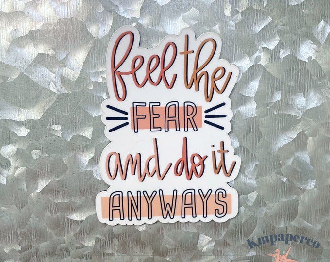 Feel the fear magnet, quote magnet, positivity magnet, Car Magnet, Magnet for Fridge, locker magnet, Birthday gift for her, small gift