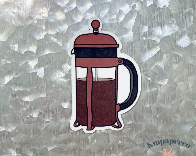 French Press Magnet, Coffee Magnet, Coffee Lover Gift, Car Magnet, Magnet for Fridge, locker magnet, Birthday gift for her, small gift