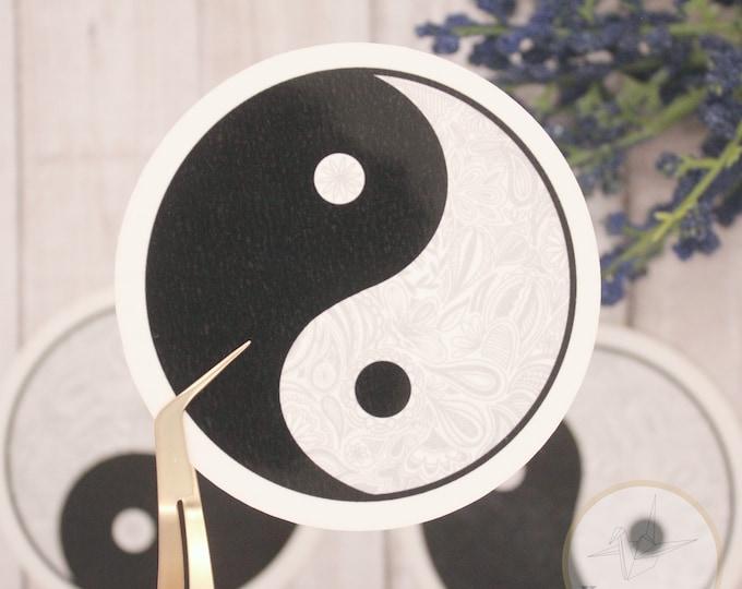 Ying Yang Sticker, Henna Sticker, Waterbottle Sticker, Laptop sticker, sticker for cups, sticker for kids, birthday gift for her,
