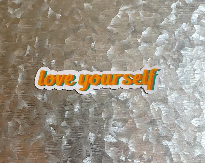 Love yourself Magnet, Quote Magnet, Car Magnet, Magnet for Fridge, Magnet for locker, Birthday gift for her, small gift,