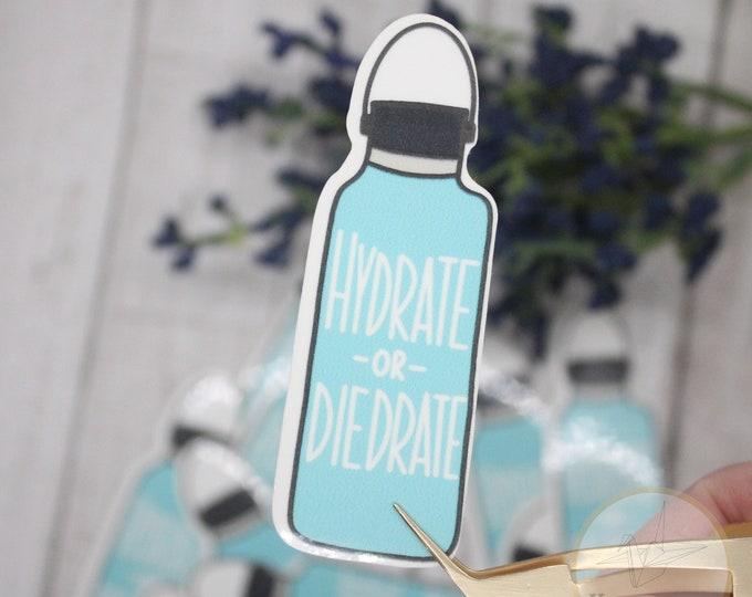 Hydrate or Diedrate Sticker,Waterproof Sticker, Sticker for waterbottle, Laptop Sticker, Birthday gift for her, Vsco Stickers