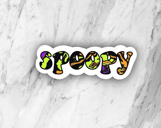 Spoopy sticker, halloween sticker, die cut sticker, laptop sticker