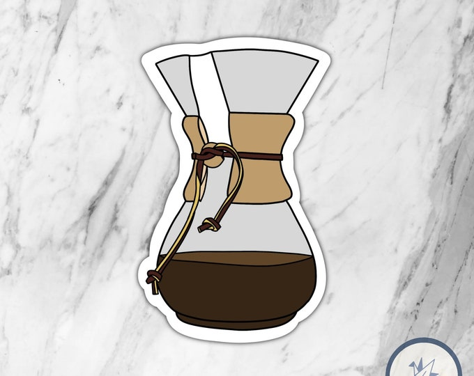 Drip Coffee Die Cute Sticker, Coffee Sticker, Die Cut Sticker, Water bottle sticker, Laptop Sticker, Gift for her, Gift for him