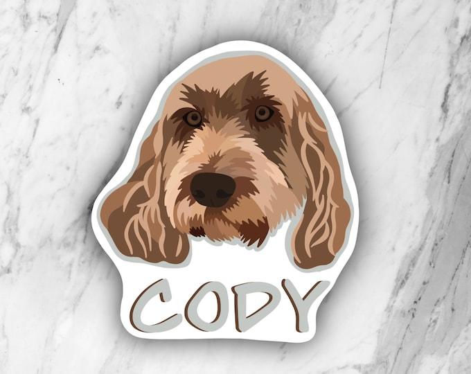 Custom Dog or Cat Sticker, Custom Pet Portrait, Custom Magnet, Dog or Cat Magnet, Custom Illustration,