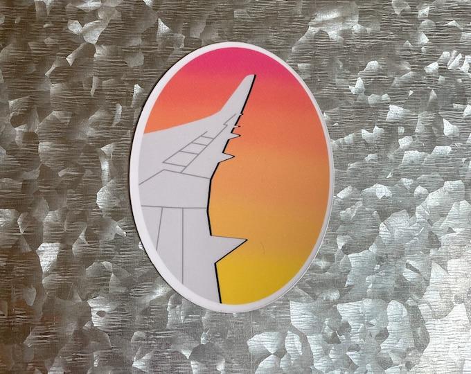 Sunset Airplane Magnet, Colorful Magnet, Car Magnet, Magnet for Fridge, Magnet for locker, Birthday gift for her, small gift,