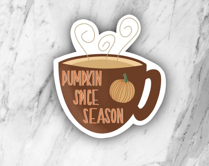 Pumpkin spice sticker, pumpkin spice coffee, coffee sticker, fall sticker, die cut sticker, laptop sticker