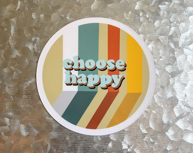 Choose Happy Magnet, 70s Magnet, Quote Magnet, Car Magnet, Magnet for Fridge, Magnet for locker, Birthday gift for her, small gift,
