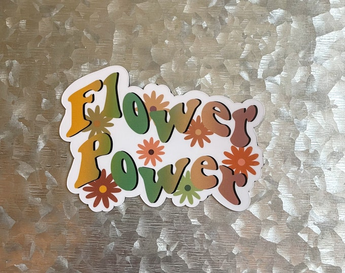 Flower Power Magnet, Groovy Magnet, Colorful Magnet, Car Magnet, Magnet for Fridge, Magnet for locker, Birthday gift for her, small gift,